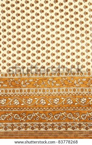 Close up of an Indian Saree design - stock photo