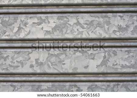 close up of an iron rolling shutter