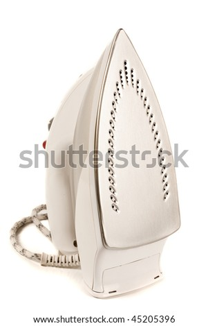 Close up of an ironing tool, household appliance - stock photo