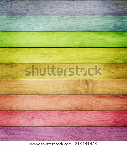 Close up of an old colorful Wood background - stock photo