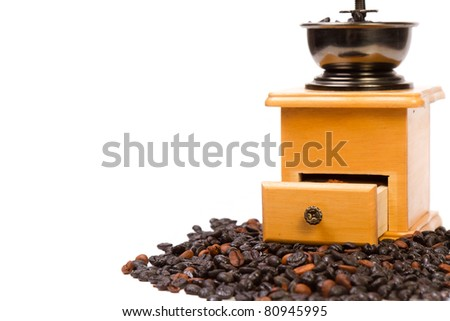 Close-up of an old-fashioned coffee grinder - stock photo