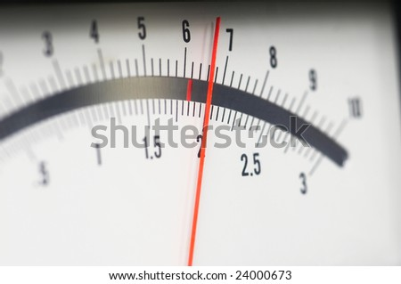 close-up of analog indicator - stock photo