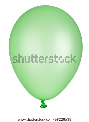 close up of balloon on white background with clipping path - stock photo