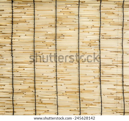 Close up of bamboo blind texture - stock photo