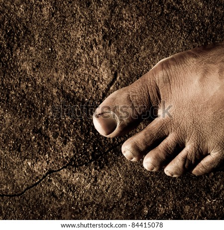 Close up of Bare Feet - stock photo