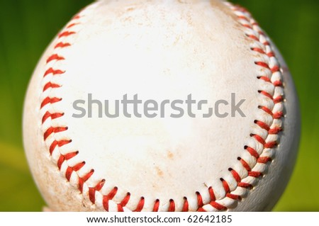 close up of baseball, room for your text - stock photo