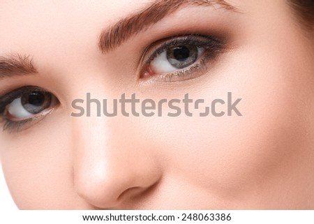 Close up of Beautiful eyes - stock photo