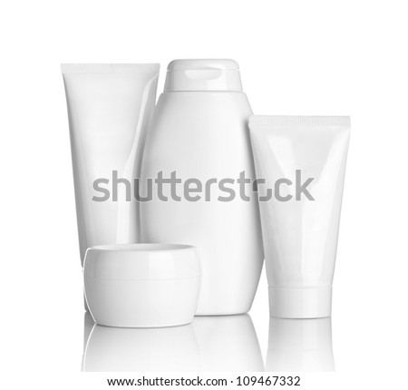 close up of  beauty hygiene container on white background with clipping path - stock photo