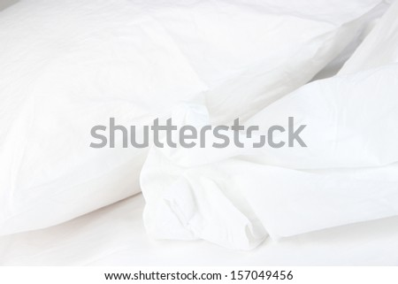Close up of bedding sheets - stock photo