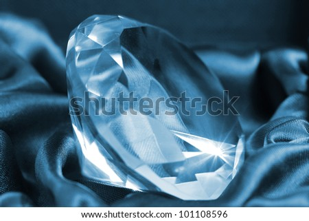Close up of big and beautiful jewel - stock photo