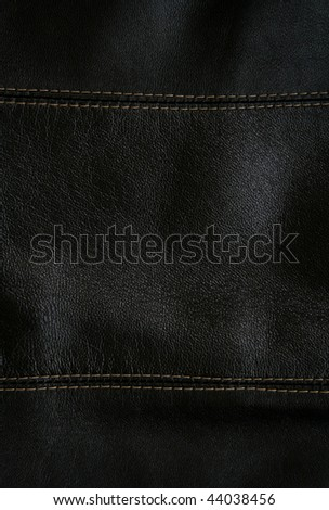 Close-up of black leather texture can use as background