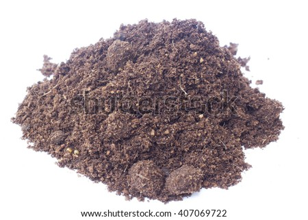 close up of black soil - stock photo
