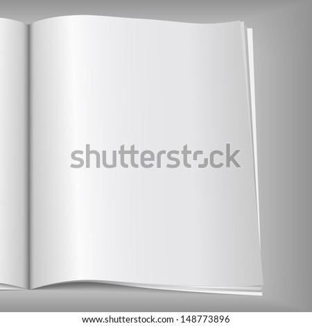 Close-up of blank magazine page - stock photo