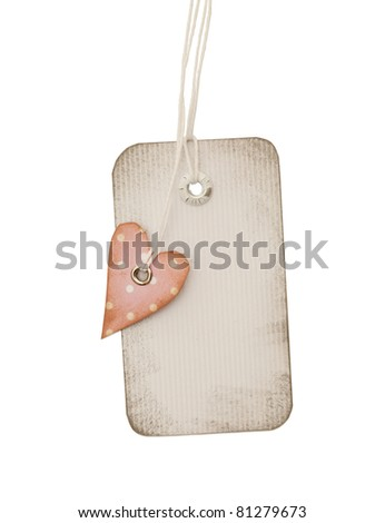 close up of blank price label on white background - stock photo