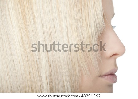 Close-up of blonde hair - stock photo