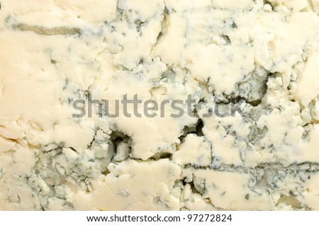 close up of blue cheese - stock photo