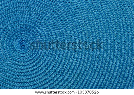 Close-up of blue food stands. The spiral structure. On the side. - stock photo