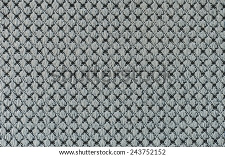 Close up of blue gray fabric weave texture background - stock photo