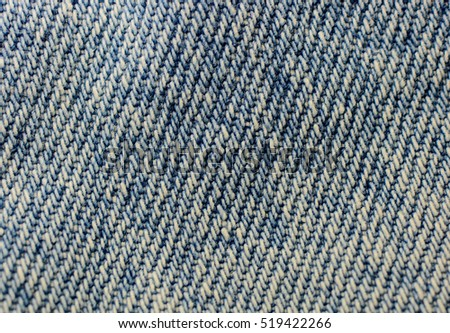 close up of blue jeans texture