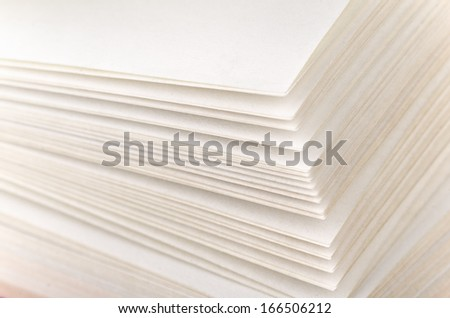 Close up of book pages - stock photo