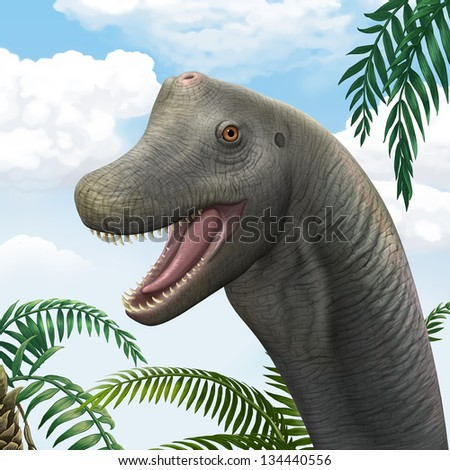 Brachiosaurus stock photos illustrations and vector art
