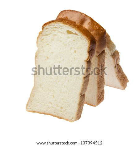 Close up of bread sliced