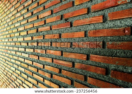 Close up of brick wall background and texture - stock photo