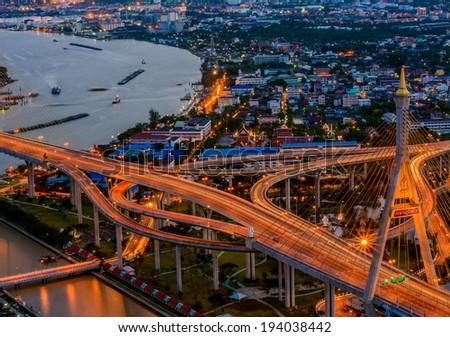 Close up of Bridge (Bangkok, Thailand) - stock photo