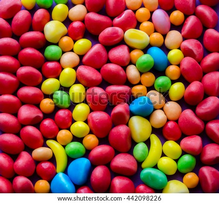 Close-up of bright colorful candies background - stock photo