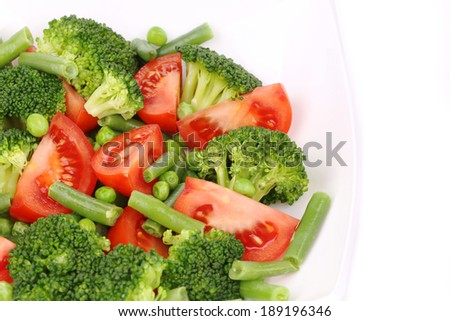 Close up of broccoli salad. Whole background.