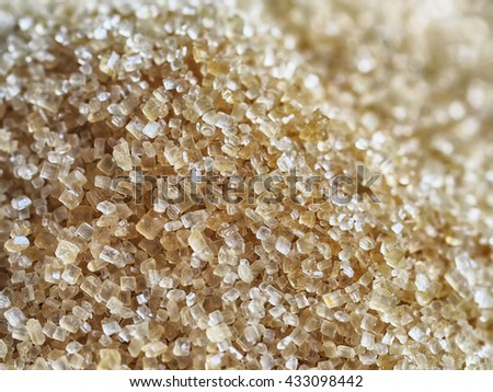 Close up of brown sugar texture background, Healthy cane sugar - stock photo