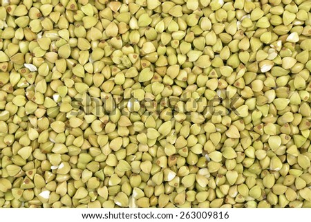 Close-up of  buckwheat  seeds to use as background  - stock photo