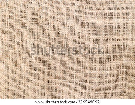 close-up of Burlap texture for background - stock photo