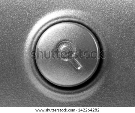 close up of button with search symbol on the keyboard - stock photo