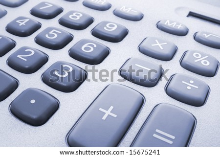 Close Up of Calculator Keys