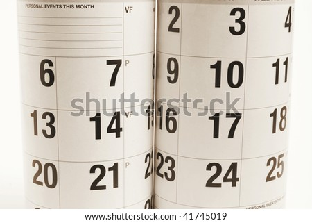 Close Up of Calendars in Warm Tone