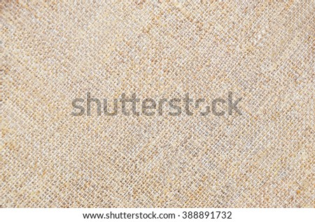 Close-up of canvas fabric cloth textile background - stock photo