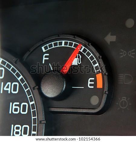 Close up of car dashboard - stock photo
