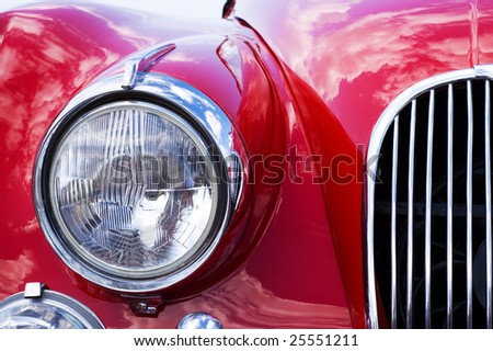Close-up of car grill - stock photo