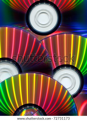 Close-up of CDs as background - stock photo