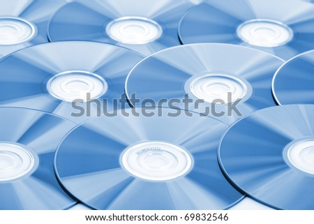 Close-up of CDs. Use for background or texture - stock photo