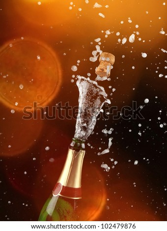 close up of champagne
