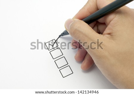 close up of check list - stock photo
