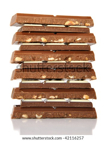 Close-up of chocolate bars - stock photo