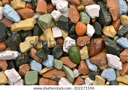 Close-up of chocolate pebbles to use as background  - stock photo