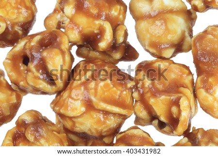 Close Up of Chocolate Pop Corns Background - stock photo