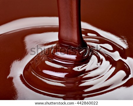 close up of chocolate syrup  - stock photo
