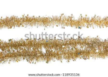 Close up of Christmas decoration on white background - stock photo