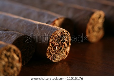 close-up of cigars