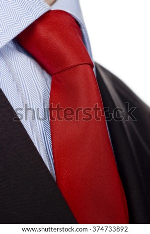 Close up of classic business necktie